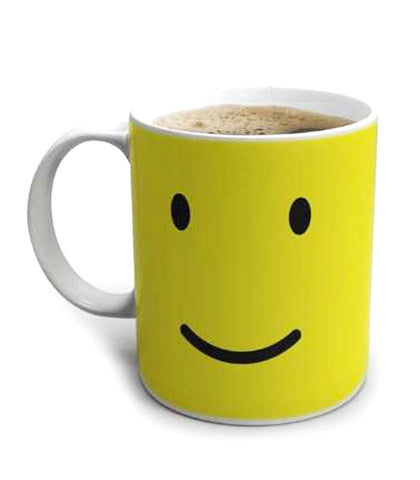 smiley colour changing mug