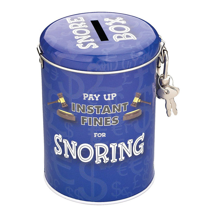 snoring fine savings tin