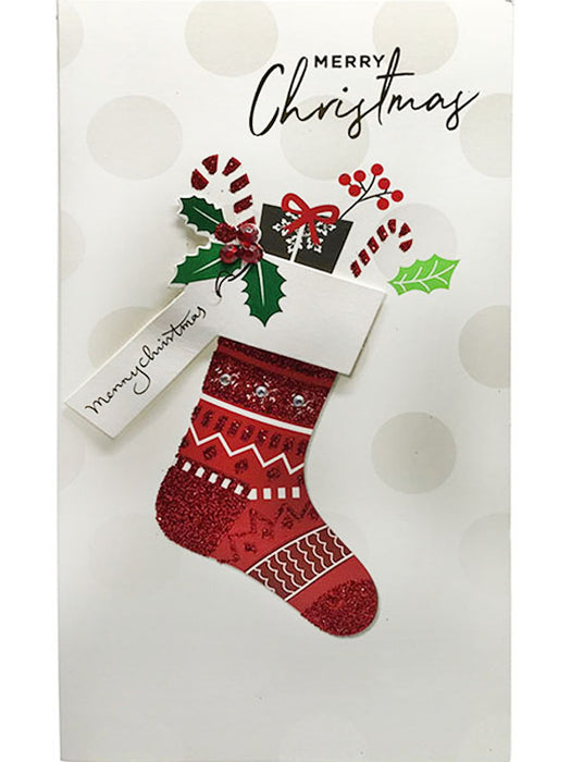 christmas socks card