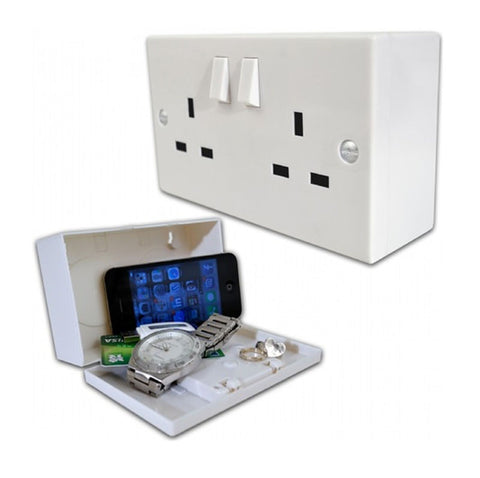 wall socket with hidden compartment
