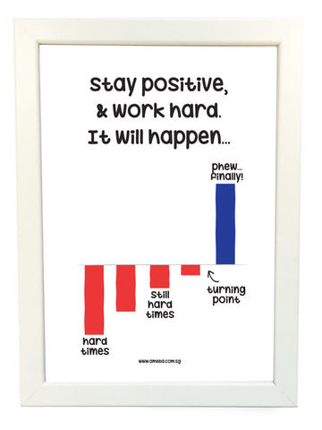 stay positive poster