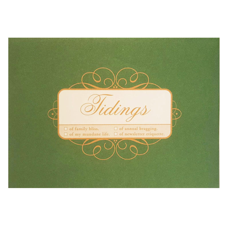 tidings card