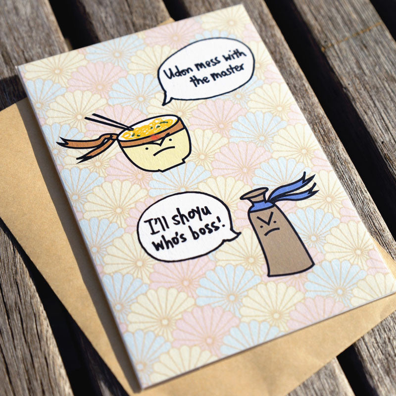 udon mess with me greeting card