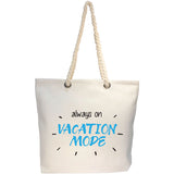 vacation mode tote bag