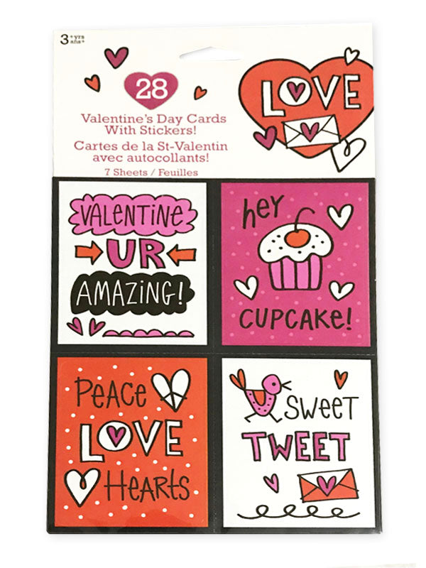 valentine cards with stickers