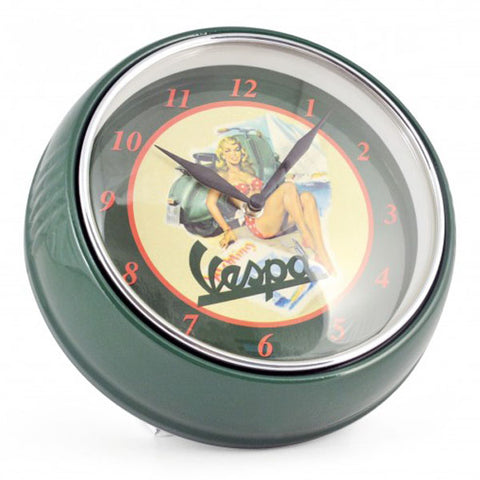 vespa green wall clock