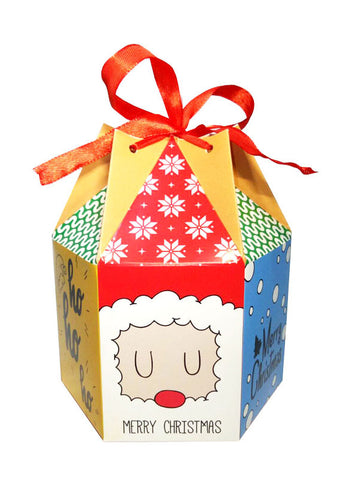 christmas cartoon hexagon gift box