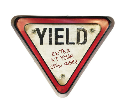 yield retro sign
