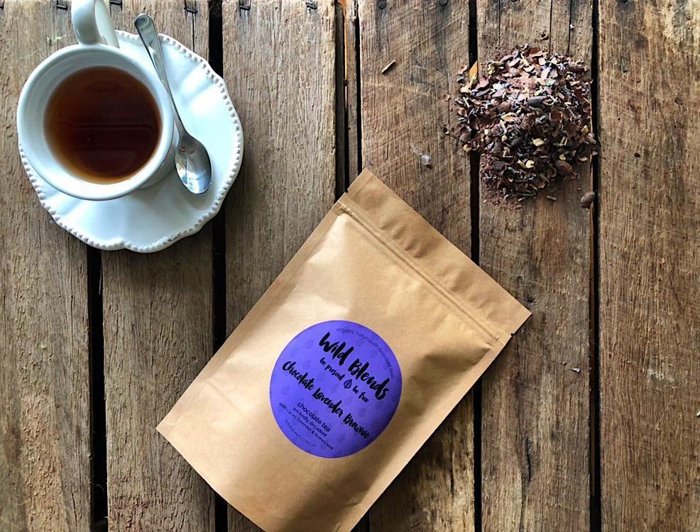 Treat yourself with Chocolate Lavender Brownie Organic Tea