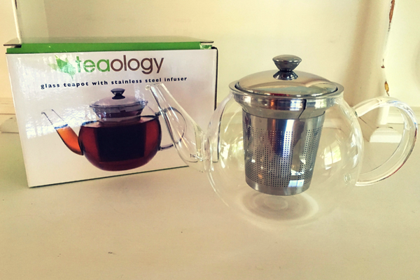Teaology 600ml Glass Tea Pot