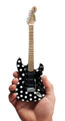 Axe Heaven FS-023 Polka Dots Fender Stratocaster Miniature Replica Guitar - Black