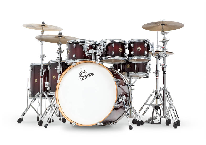 Gretsch CM1-E826P-DCB Catalina Maple 6-Piece Drum Shell Pack with Additional 8? Tom - Deep Cherry Burst