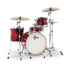 Gretsch CT1-J404-GCB Catalina Club 4 Piece Shell Pack (20/12/14/14SN) - Gloss Crimson Burst