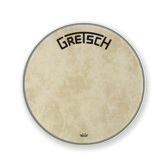 "Gretsch GRDHFS22B 22"" Fiberskyn Bass Drum Head with Broadkaster Logo"
