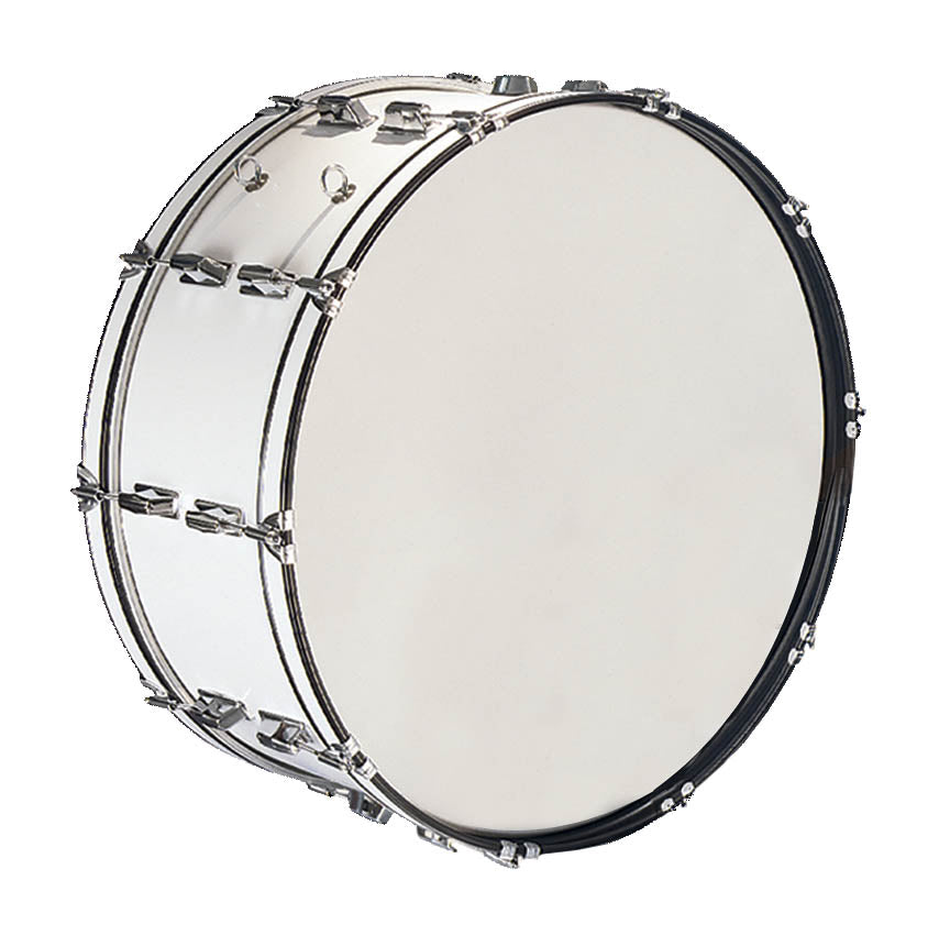 "CB Percussion IS3650W Cb 10""x26"" March Band Drum - White"