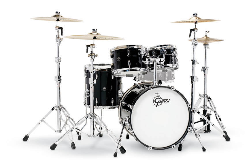 Gretsch RN2-E604-PB Renown 4-Piece Drum Set (20/10/12/14) - Piano Black