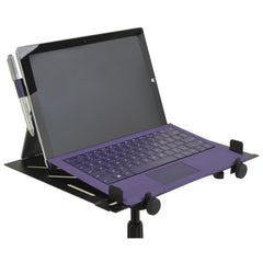On Stage Black Powder Coat Finish MSA5000 Laptop / Accessory Tray