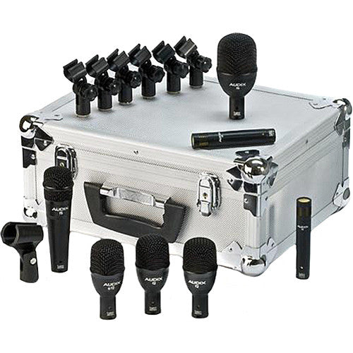 Audix FP7 7-Piece Fusion Drum Instrument Dynamic Microphone Package