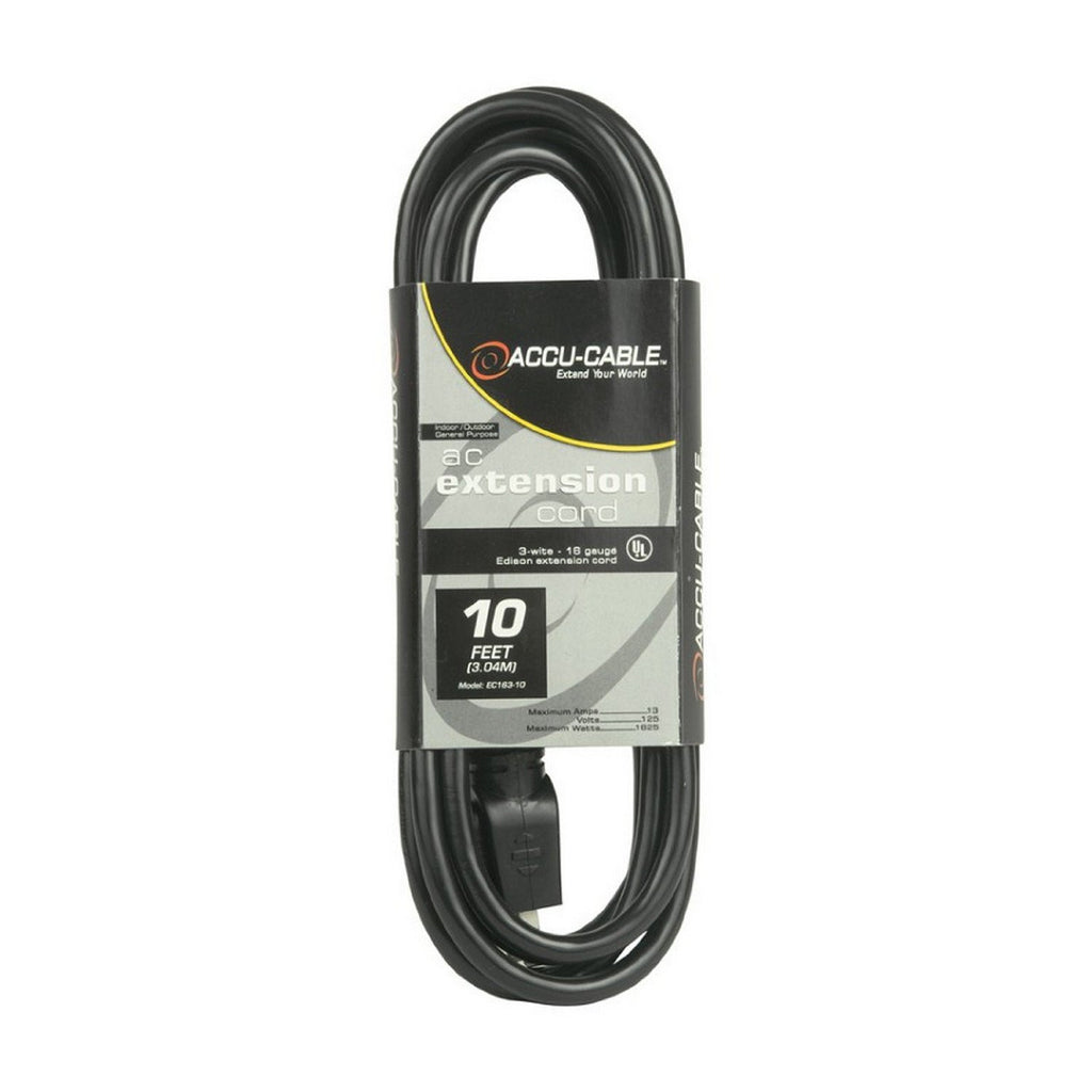 American DJ EC-163-10 10ft, 16 Gauge Edison Sockets AC Extension Cord - Audioride