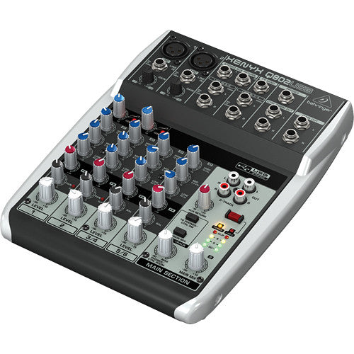Behringer Xenyx Q802USB Premium 8-Input 2-Bus Mixer with USB and Effects