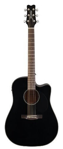 Jasmine JD39CE-BLK J-Series Acoustic-Electric Guitar, Black