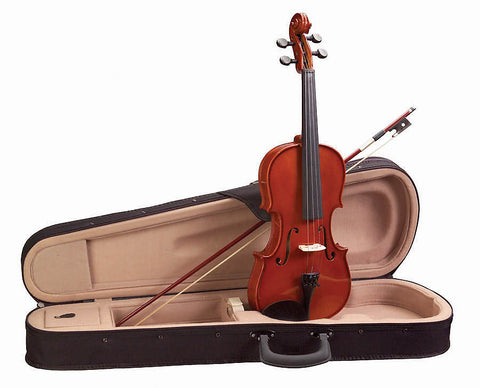 Academy 145AU-1/4 Classical Series Violin Outfit with Case & Bow - Red-Gold Gloss