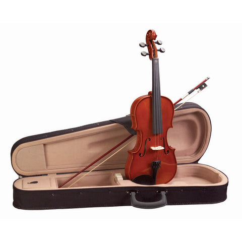Academy 145AU-1/2 Classical Series Violin Outfit with Case & Bow - Red-Gold Gloss