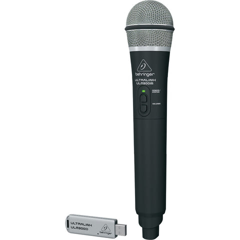 Behringer Ultralink ULM300USB 2.4 GHz Digital Wireless System with Handheld Microphone and Dual-Mode USB Receiver