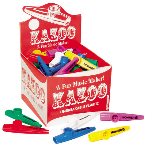Hohner KC50 Kazoos of Assorted Colors, 50 Pack