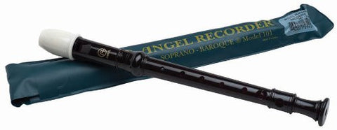 Angel AR101 Soprano Recorder, Baroque-English Fingering w/ Case
