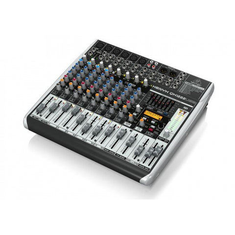 Behringer Xenyx QX1222USB 16-Input 2/2-Bus Mixer with Xenyx Mic Preamps & Compressors KLARK TEKNIK Multi-FX Processor Wireless Option and USB/Audio Interface