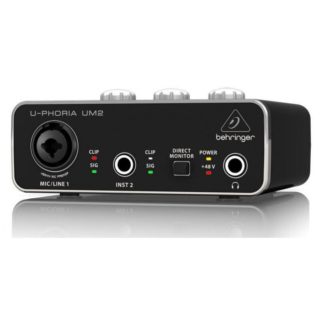 Behringer UM2 U-Phoria Audiophile 2x2 USB Audio Interface with Xenyx Mic Preamplifier