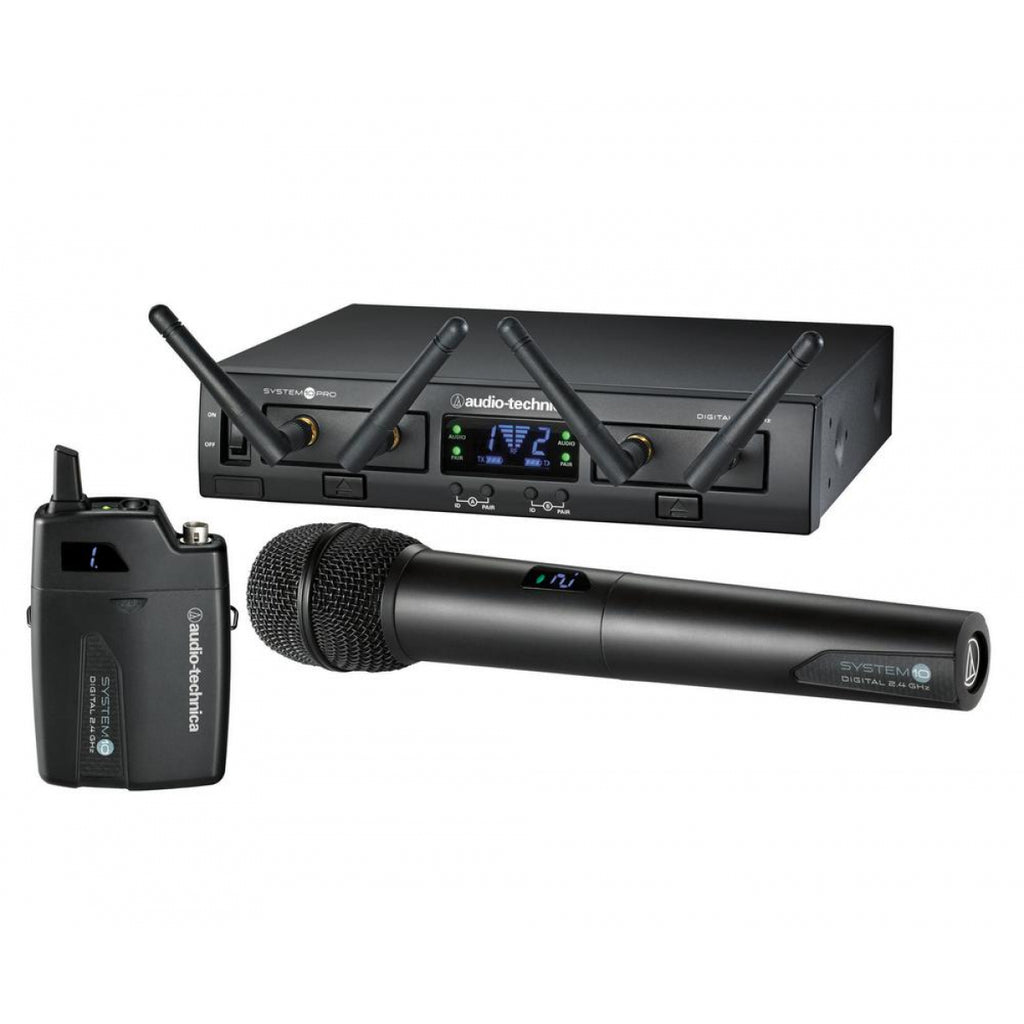 Audio-Technica ATW-1312/L System 10 PRO Rack-Mount Digital Lavalier/Handheld Combo System (2.4 GHz)