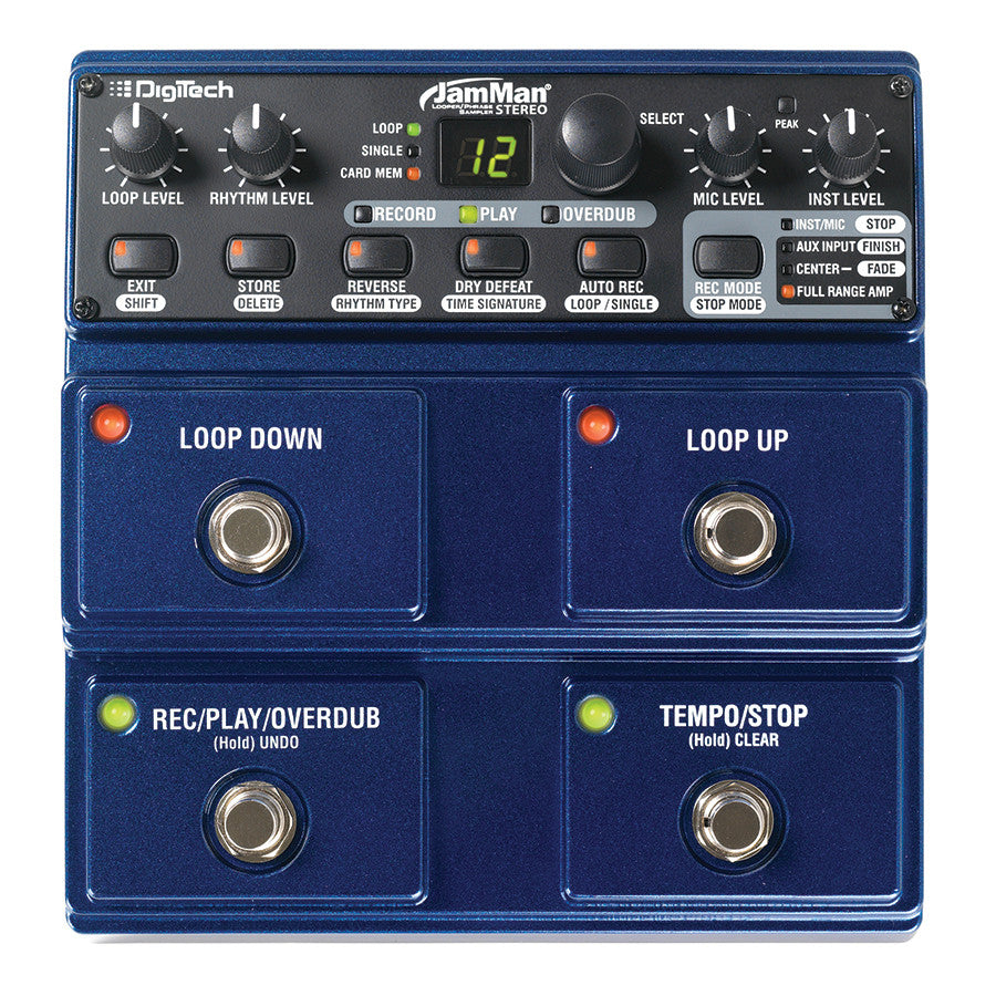 DigiTech JML2 JamMan Stereo Looper and Phrase Sampler Guitar Effects Pedal  - Audioride