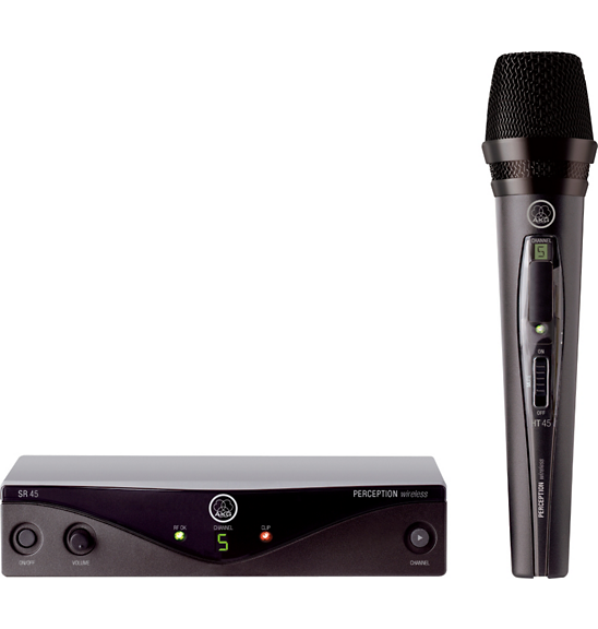 AKG WMS45 Perception Wireless Vocal Set Handheld Microphone System - Audioride