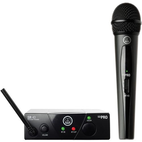 AKG | WMS 40Mini Vocal Set Plug Play Wireless Mic System, Frequency C - Audioride