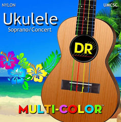 DR Strings UMCSC Ukulele MultiColor Soprano Concert Strings