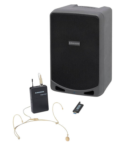 Samson Expedition XP106W Portable PA System with Wireless Headset Mic System & Bluetooth
