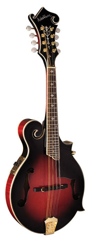 Washburn M3SWETWRK Mandolin with Florentine Cutaway - Transparent Wine Red