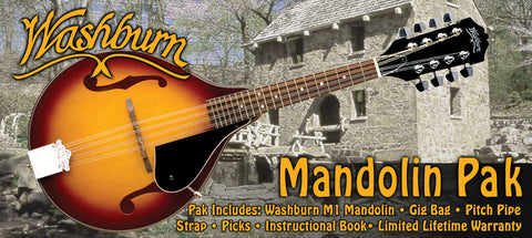 Washburn M1K A-Style Mandolin Package  Sunburst Finish