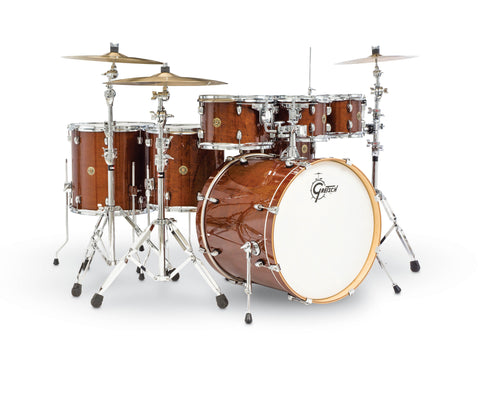 Gretsch Catalina Maple 6-Piece Shell Pack with Free Additional 8″ Tom - Walnut Glaze