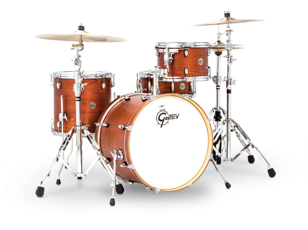 "Gretsch Drums Catalina Club Jazz 4-piece Shell Pack with Snare Drum - 20"" Kick - Satin Walnut Glaze"