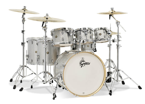 Gretsch  Silver Sparkle Catalina Maple 6-Piece Shell Pack with Free Additional 8″ Tom