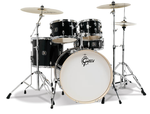 Gretsch Black Energy 5 pc. Kit w/ Full Hardware Package & Zildjian Cymbals