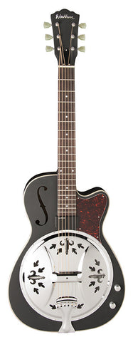 Washburn R60BCE Resonator - Matte Black