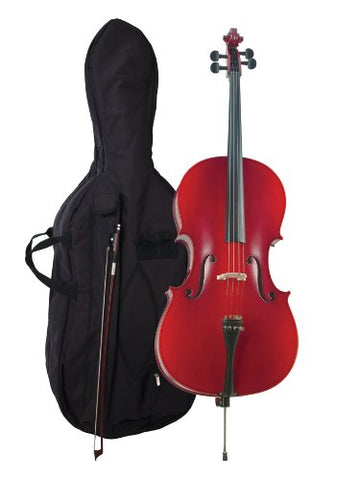 Becker 375D Prelude Cello Outfit 4/4 , Red-Brown Satin Finish