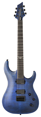 Washburn PXM200AFTBLM Parallaxe PXM Series Solid-Body Electric Guitar, Trans Blue Matte Finish
