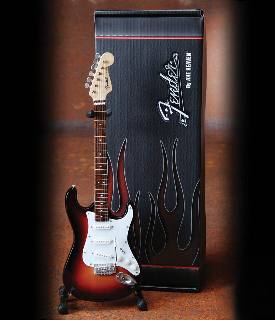 Axe Heaven Officially Licensed Miniature Guitar Replica Fender™ Stratocaster™ – Classic Sunburst Finish - Audioride