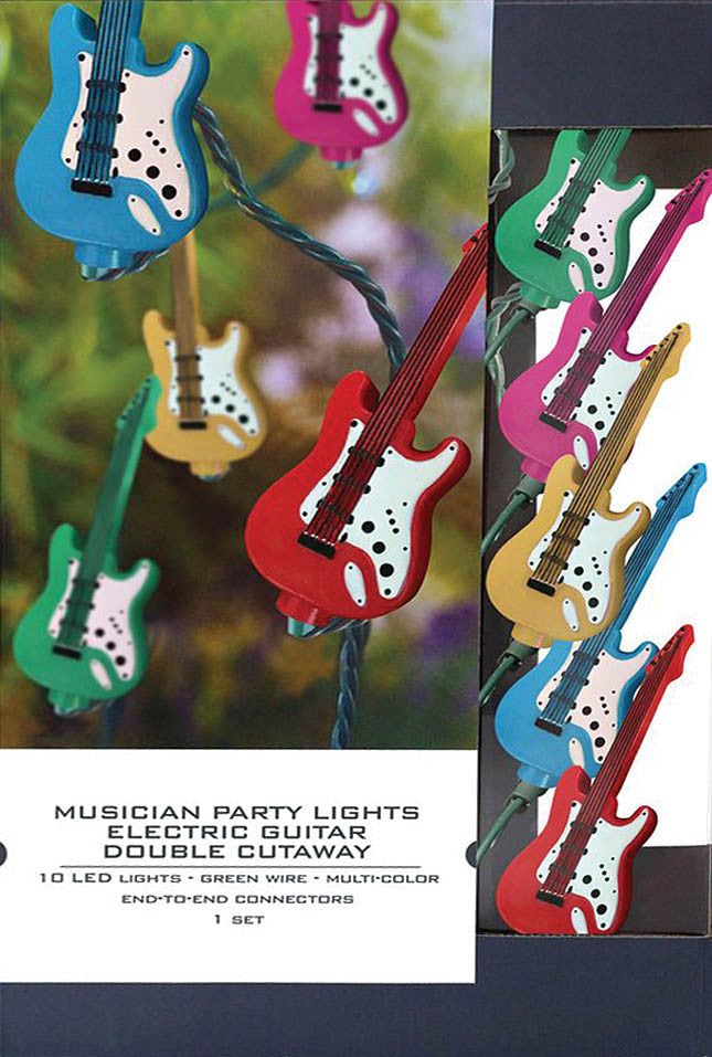 Axe Heaven Musician Party Lights – Electric Guitar Double-Cutaway Edition - Audioride
