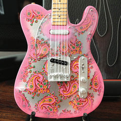 Axe Heaven Officially Licensed Miniature Guitar Replica Fender™ Telecaster™ – Pink Paisley - Audioride